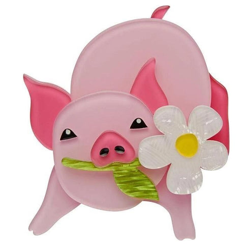 erstwilder brooch 'wilbur the wonder pig'