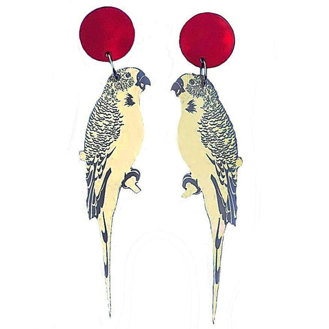 kirby jo meyer earrings 'budgie' pale gold