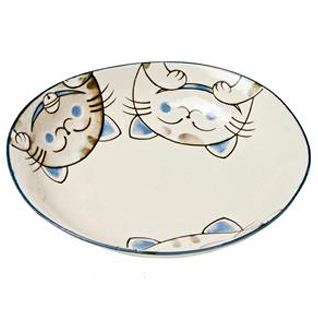 concept japan oval deep plate 'cat' blue