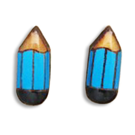 bok bok b'gerk earrings 'pencil' blue