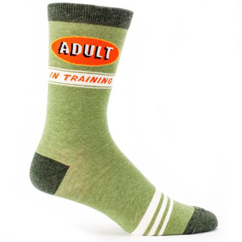 BLUE Q MEN'S SOCKS 'ADULT IN TRAINING'
