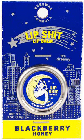 blue q lip balm 'lip shit blackberry honey'