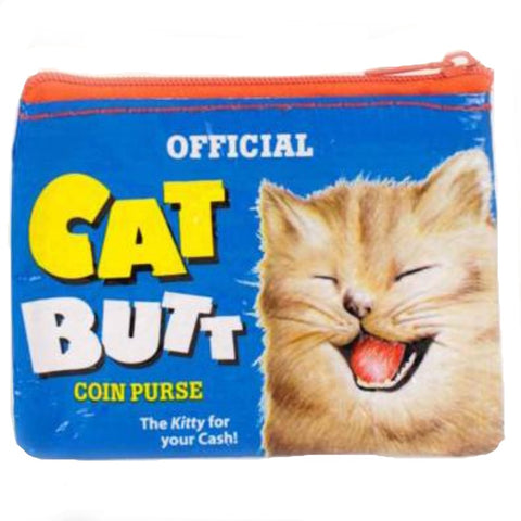 BLUE Q COIN PURSE 'CAT BUTT'