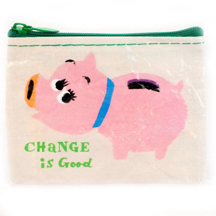 BLUE Q COIN PURSE 'CHANGE IS GOOD'