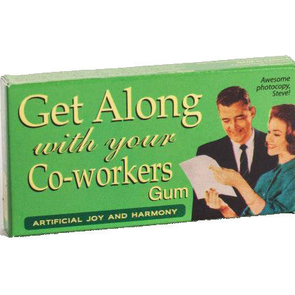 BLUE Q CHEWING GUM 'GET ALONG WITH YOUR COWORKERS'