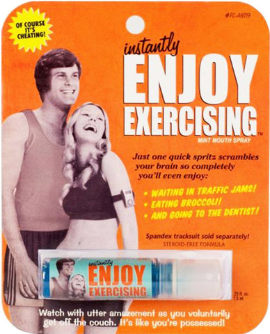 blue q breath spray 'enjoy exercising'