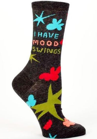 blue q women's socks 'i have mood swings'