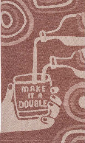 blue q dish towel 'make it a double' - the-tangerine-fox