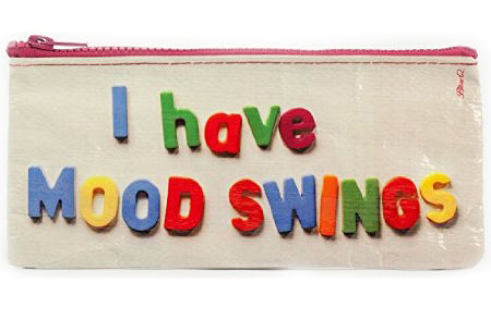 BLUE Q PENCIL CASE 'I HAVE MOOD SWINGS'