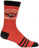 blue q men's socks 'motherf*cking sweet guy' - the-tangerine-fox