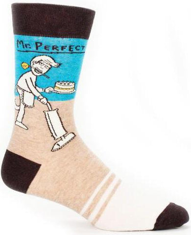 blue q men's socks 'mr perfect'