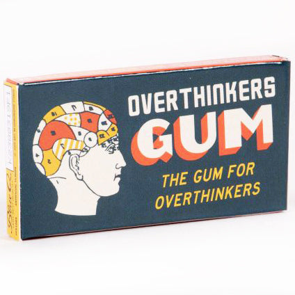 blue q chewing gum 'overthinkers' - the-tangerine-fox