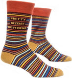 blue q men's socks 'pretty decent boyfriend' - the-tangerine-fox