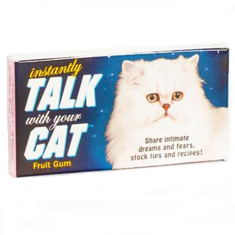 BLUE Q CHEWING GUM 'INSTANTLY TALK WITH YOUR CAT'