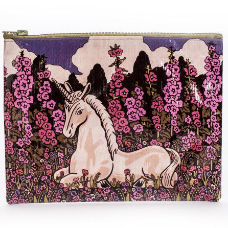 BLUE Q ZIPPER POUCH 'UNICORN'