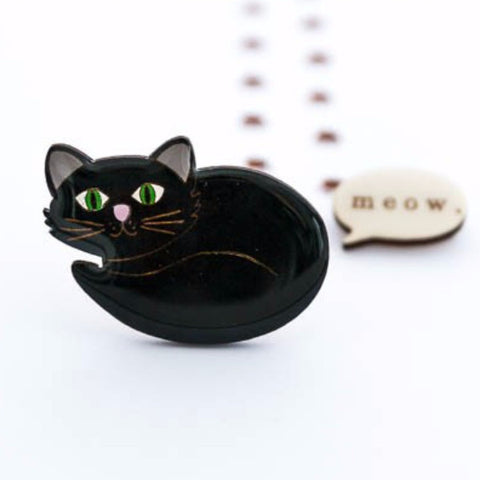 bok bok b'gerk brooch 'stella the cat'