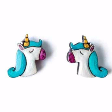 bok bok b'gerk earrings 'unicorn'