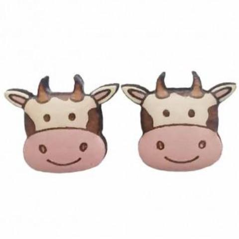 bok bok b'gerk earrings 'cow'