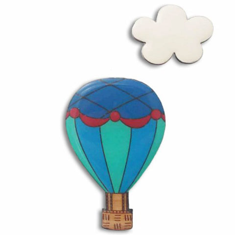 bok bok b'gerk brooch 'hot air balloon' - the-tangerine-fox