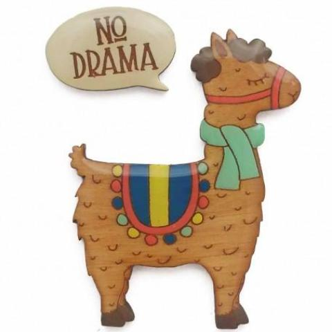 bok bok b'gerk brooch 'no drama llama' - the-tangerine-fox