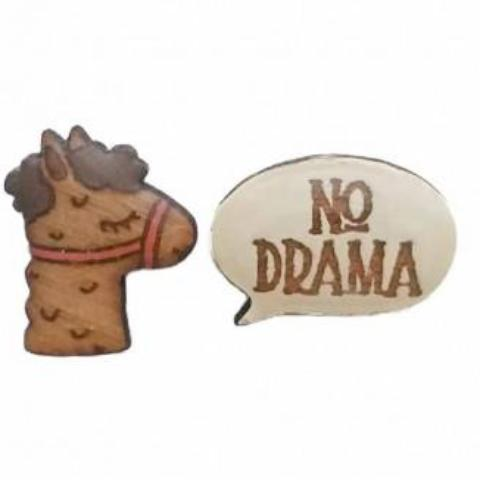 bok bok b'gerk earrings 'no drama llama'
