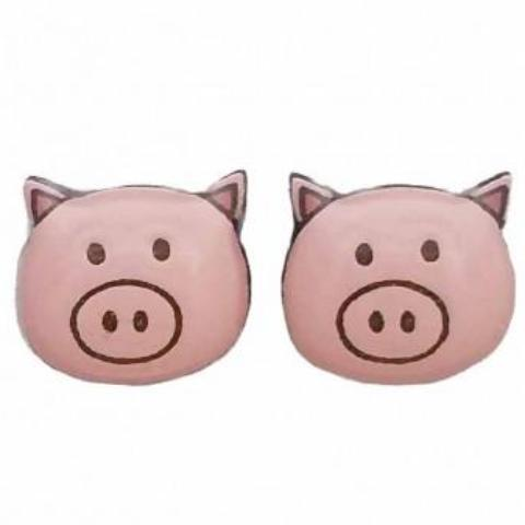 bok bok b'gerk earrings 'pig'