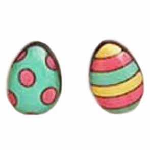 bok bok b'gerk earrings 'easter egg' spots & stripes