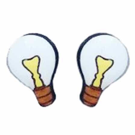 bok bok b'gerk earrings 'lightbulb'