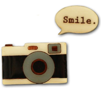 bok bok b'gerk brooch 'camera smile' - the-tangerine-fox