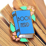 jubly-umph enamel pin 'book nerd'