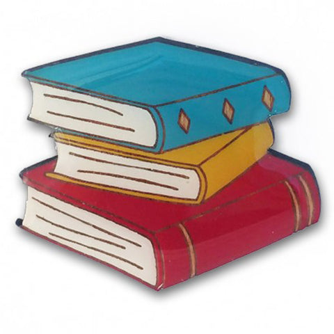 bok bok b'gerk brooch 'books' brights