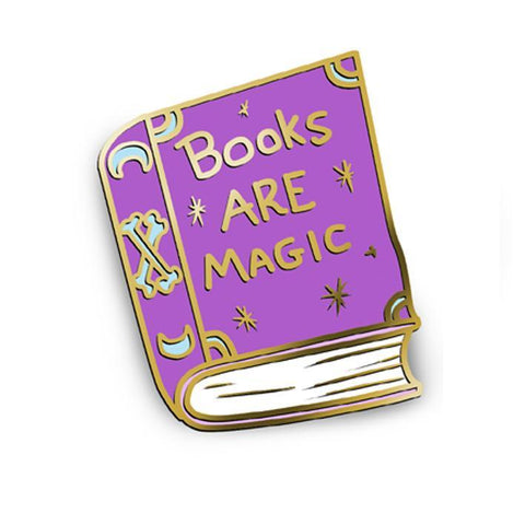 JUBLY-UMPH 'BOOKS ARE MAGIC' ENAMEL PIN