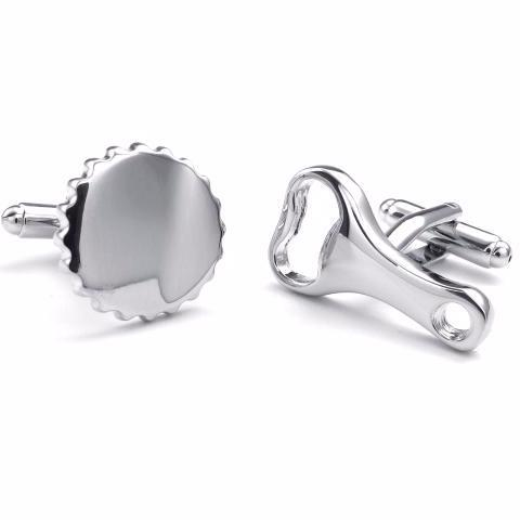 cufflinks 'bottle opener & cap'