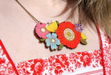 layla amber necklace 'poppy bouquet'