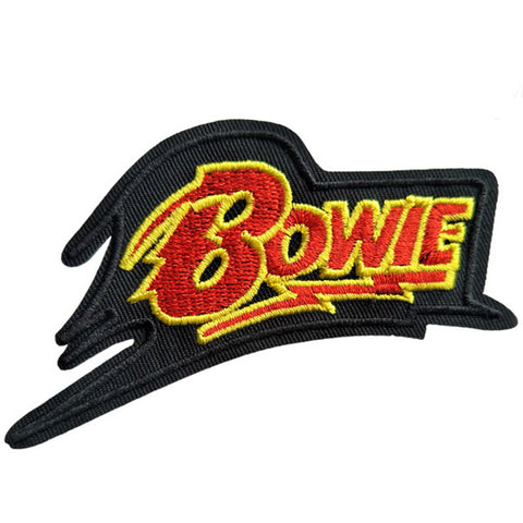 embroidered patch 'bowie bolt' - the-tangerine-fox