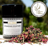 brewed by belinda standing ovation tea canister