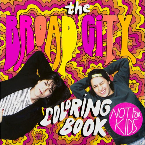 adult colouring book 'broad city'