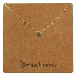 mints necklace 'brushed star' gold