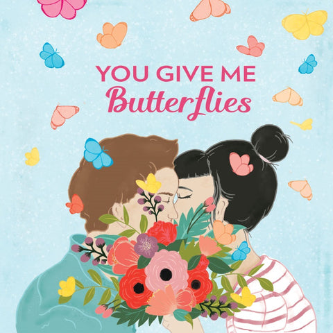 la la land greeting card 'you give me butterflies' - the-tangerine-fox
