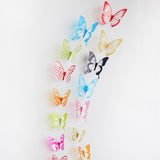 wall sticker '3D butterflies multicolour glitter' 12 pack - the-tangerine-fox