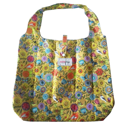 gifted hands shopping bag 'butterfly' mustard