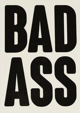 nineteen seventy three greeting card 'bad ass'