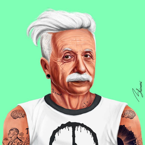 hipstory coaster 'albert einstein' - the-tangerine-fox