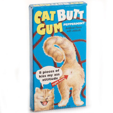 BLUE Q CHEWING GUM 'CAT BUTT'