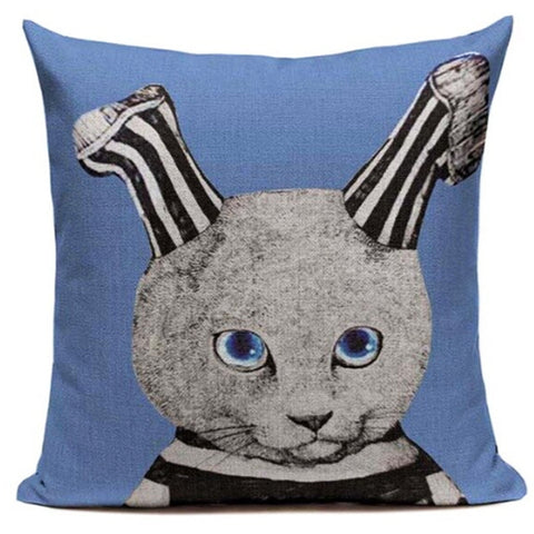 cushion cover vintage cat 'mrs striped socks'