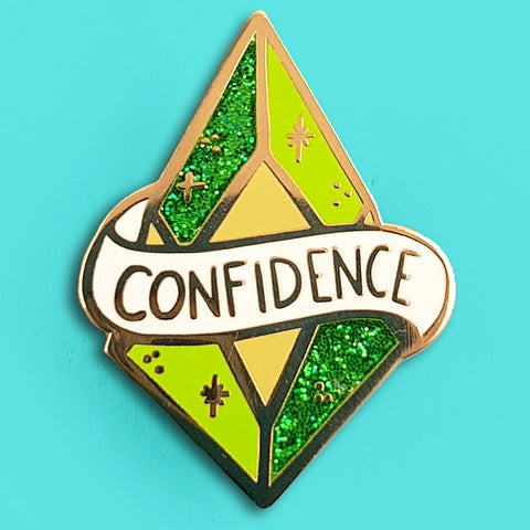 jubly-umph enamel pin 'confidence'