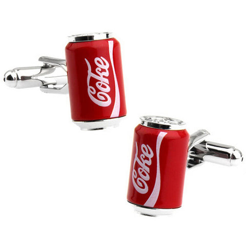 cufflinks 'coke can'