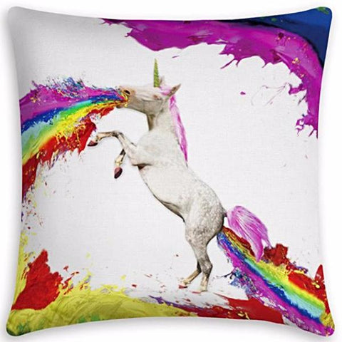 cushion cover 'unicorn rainbows'