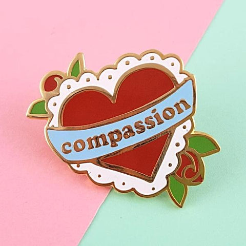 jubly-umph enamel pin 'compassion'