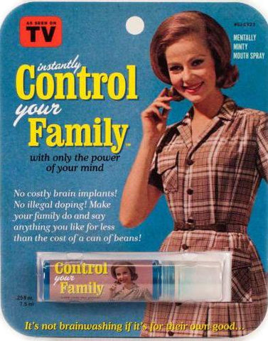 blue q breath spray 'control your family'